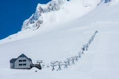 Skidlift i Mt huv Arkivfoton
