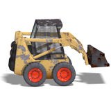 Skidloader. Rendering of a skidloader with Clipping Path and shadow over white Royalty Free Stock Images