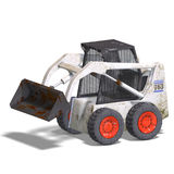 Skidloader. Rendering of a skidloader with Clipping Path and shadow over white Royalty Free Stock Photo