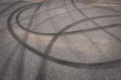 Skidmarks on asphalt Stock Image