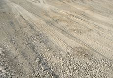 Skidmarks in the ground Royalty Free Stock Images