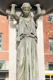 Skidmore fontanna w Oldtown około 1888 Zdjęcia Stock