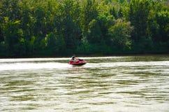 Skidoo de rivière photos libres de droits