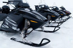 Skidoo's in a row Royalty Free Stock Image