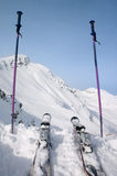 Skie and ski pole Stock Image