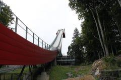Skieflyverschansing Obersdorf stock fotografie