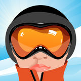 Skier. Vector illustration, AI file included Royalty Free Stock Photography