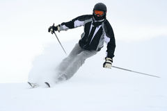 Skier. On sliding down a slope Royalty Free Stock Photography