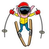 Skier. Silhouette-man winter sport icon - skier Royalty Free Stock Photos