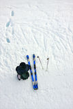 Skier. A skier seen from above Stock Photography