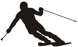 Skier. Abstract vector illustration of skier Royalty Free Stock Image