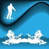 Skier royalty free illustration