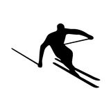 skier Foto de Stock Royalty Free