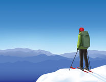 skier stock abbildung