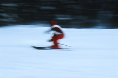 Skier in action 6 Stock Image