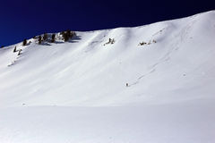 Skier in the backcountry Royalty Free Stock Photography