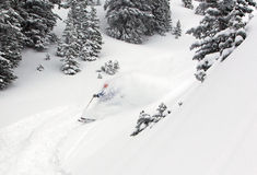 Skier in the backcountry Stock Photo