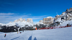 Skier on the Canazei ski resort Royalty Free Stock Images