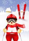 Skier cartoon Royalty Free Stock Photos