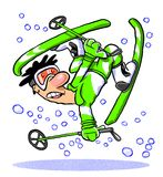 Skier comes a cropper Stock Image