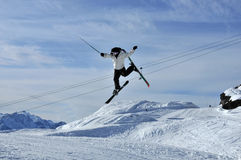 Skier conducting Royalty Free Stock Photography