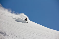 Skier in deep powder, extreme freeride. See my other works in portfolio Royalty Free Stock Photo