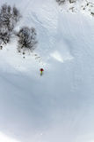 Skier in deep powder, extreme freeride. Skier in deep powder, extreme mountain freeride Stock Photos