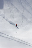 Skier in deep powder, extreme freeride. Skier in deep powder, extreme mountain freeride Stock Photography