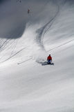 Skier in deep powder, extreme freeride Royalty Free Stock Photo