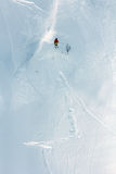 Skier in deep powder, extreme freeride Royalty Free Stock Photos
