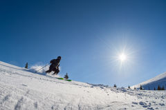 Skier in deep powder Stock Photography