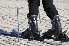 Skier on a Dry Ski Slope Stock Image