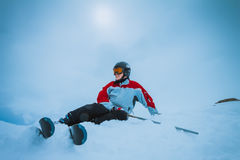 Skier, extreme winter sport Stock Photography