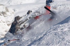 Skier fall Royalty Free Stock Photography