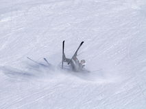 Skier Falls Stock Photos