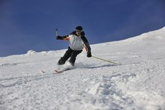 Skier free ride Royalty Free Stock Photos