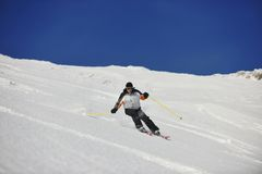 Skier free ride Royalty Free Stock Image