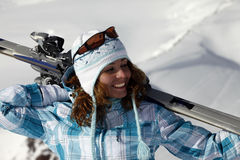Skier girl Stock Images