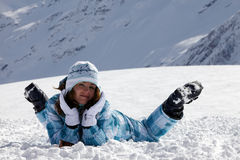 Skier Girl Royalty Free Stock Images