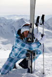 Skier girl Royalty Free Stock Photography