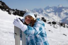 Skier girl Stock Images
