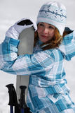 Skier girl Stock Photo