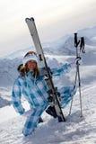 Skier girl Royalty Free Stock Image