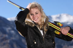 Skier girl Stock Photo