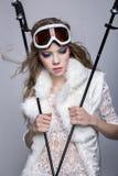 Skier girl Stock Image