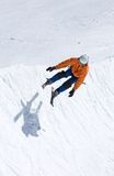 Skier on half pipe of Pradollano ski resort in Spain Stock Photography