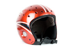 Skier helmet. Isolated on a white background Royalty Free Stock Photos