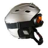 Skier helmet with goggle Stock Photos