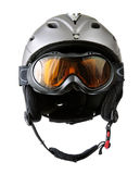 Skier helmet with goggle Stock Images