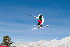 Skier High in the Air Stock Image